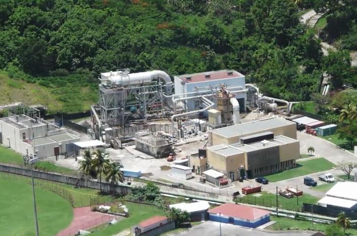 Central de energía geotérmica
