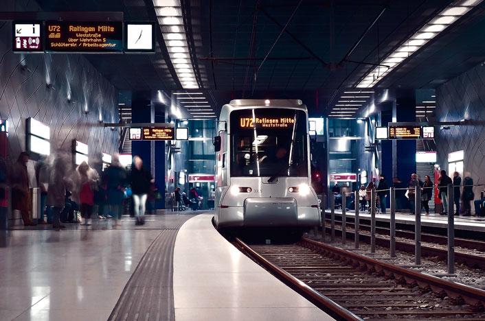 Estación de metro por dentro