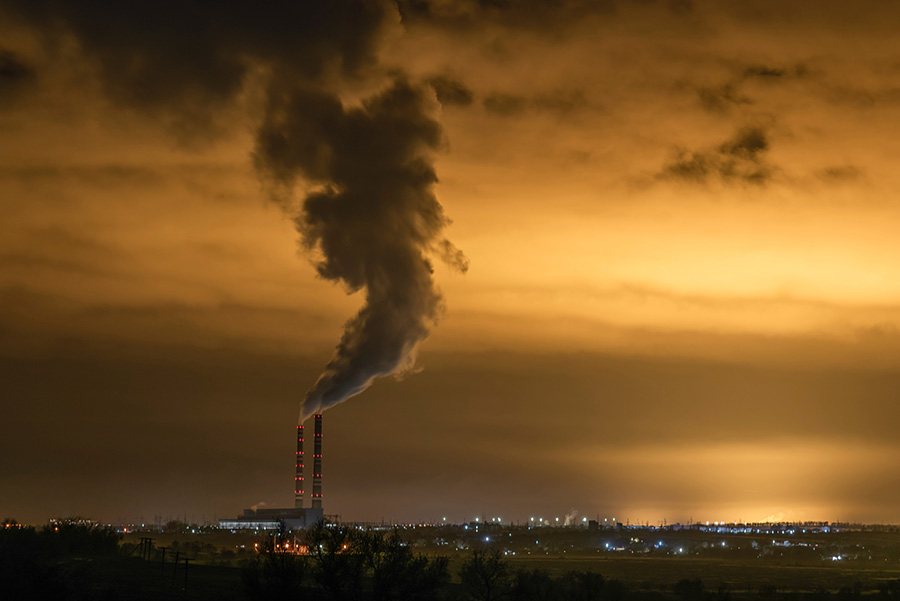 quema gases pesados CO2