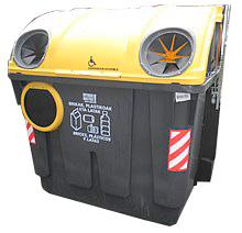 Contenedor amarillo plastico