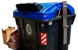 contenedor azul papel
