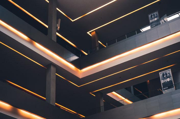 Iluminación eficiente en hotel