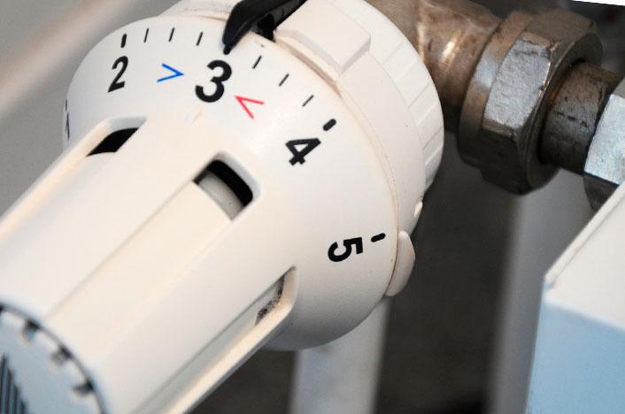Manivela regulación calefacción eficiente