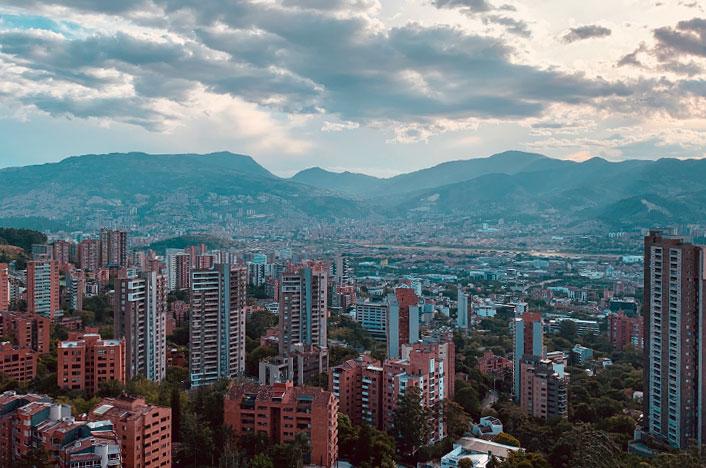 Vista de edificios en ciudad