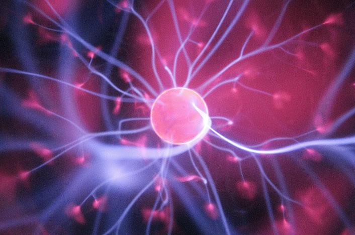 Liberación de energía en un átomo