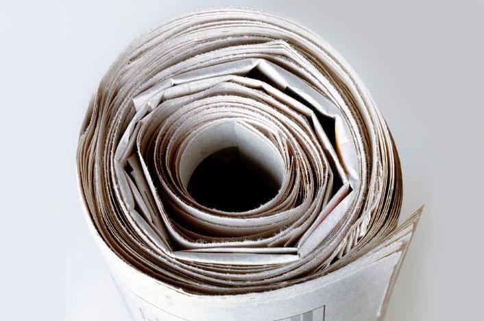 papel reciclado enrrollado