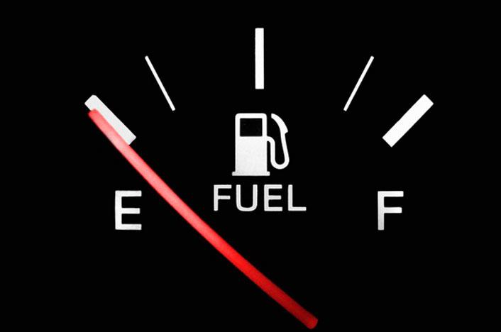 Indicador de depósito bajo de gasolina