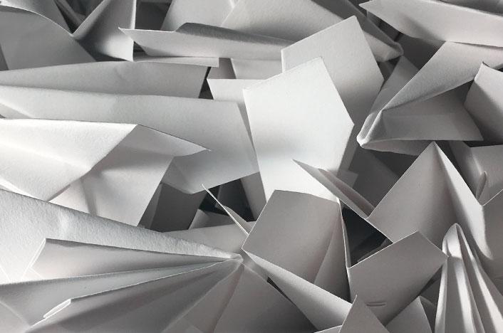 Papel reciclado casero