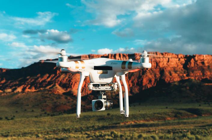 Dron con cámara de vigilancia