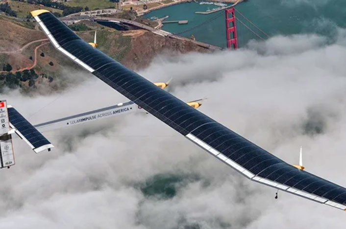 Fotografía del avión Solar Impulse II