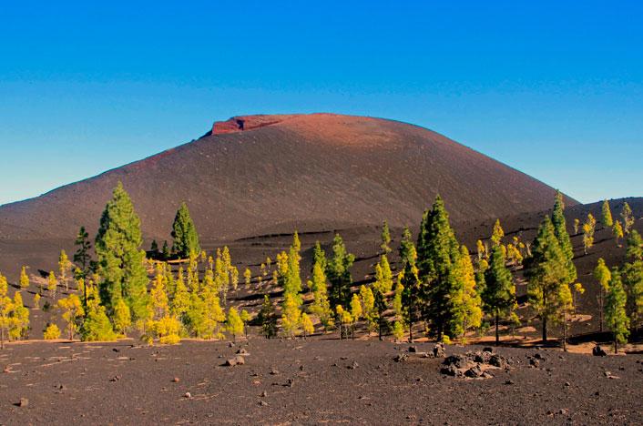 Volcán en las Islas Canarias