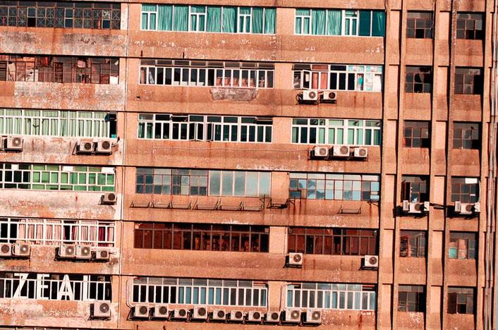 Edificio con Aire Acondicionado