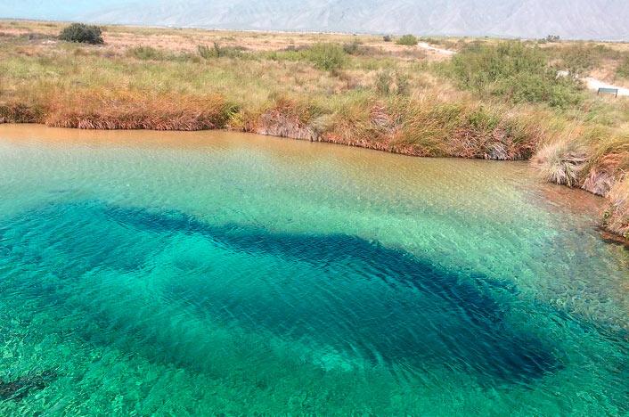 lago en el valle de cuatrocienagas en Mexico