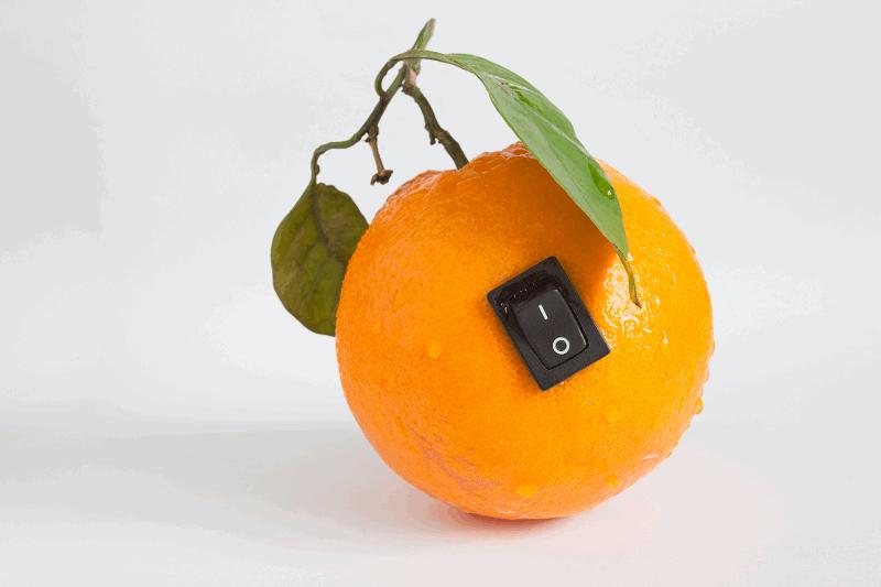 Naranja-interruptor