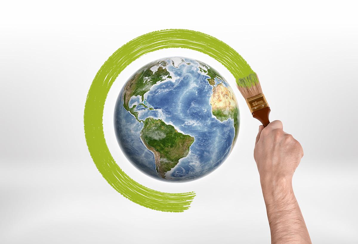 bola del mundo sostenible