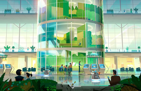 Maqueta proyecto huerto urbano aeropuerto Vancouver