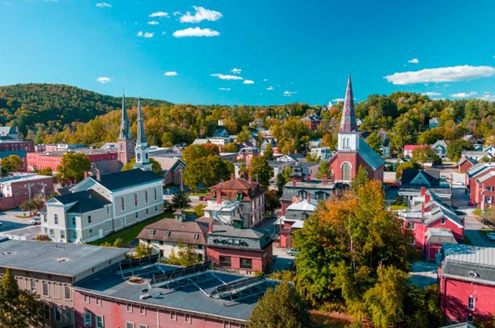Vista de Burlington desde el aire