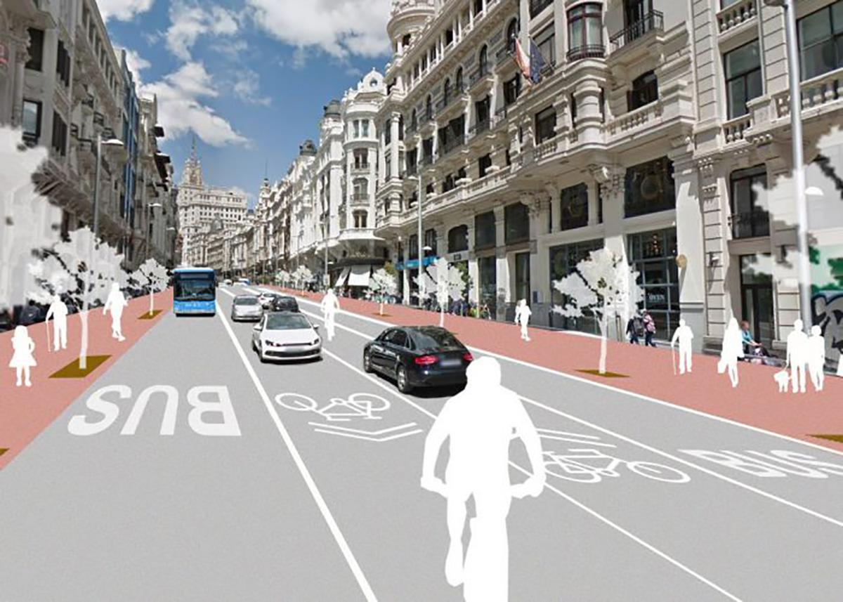 Peatonalización de la Gran Vía de Madrid
