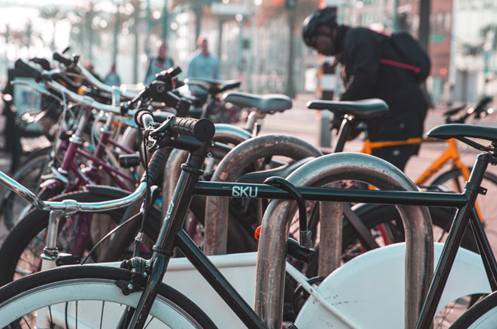 Bicicletas con seguro para prevenir robos