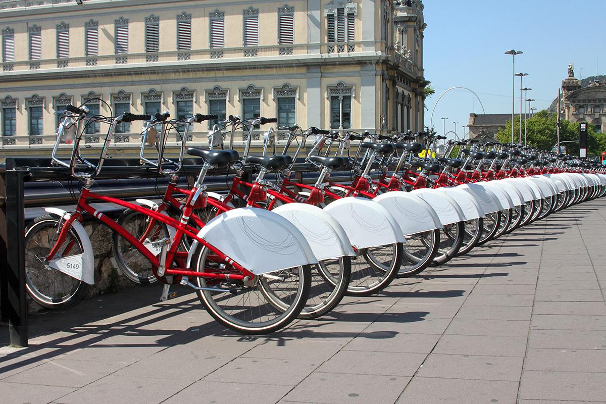 Bicicletas sostenibles en la ciudad