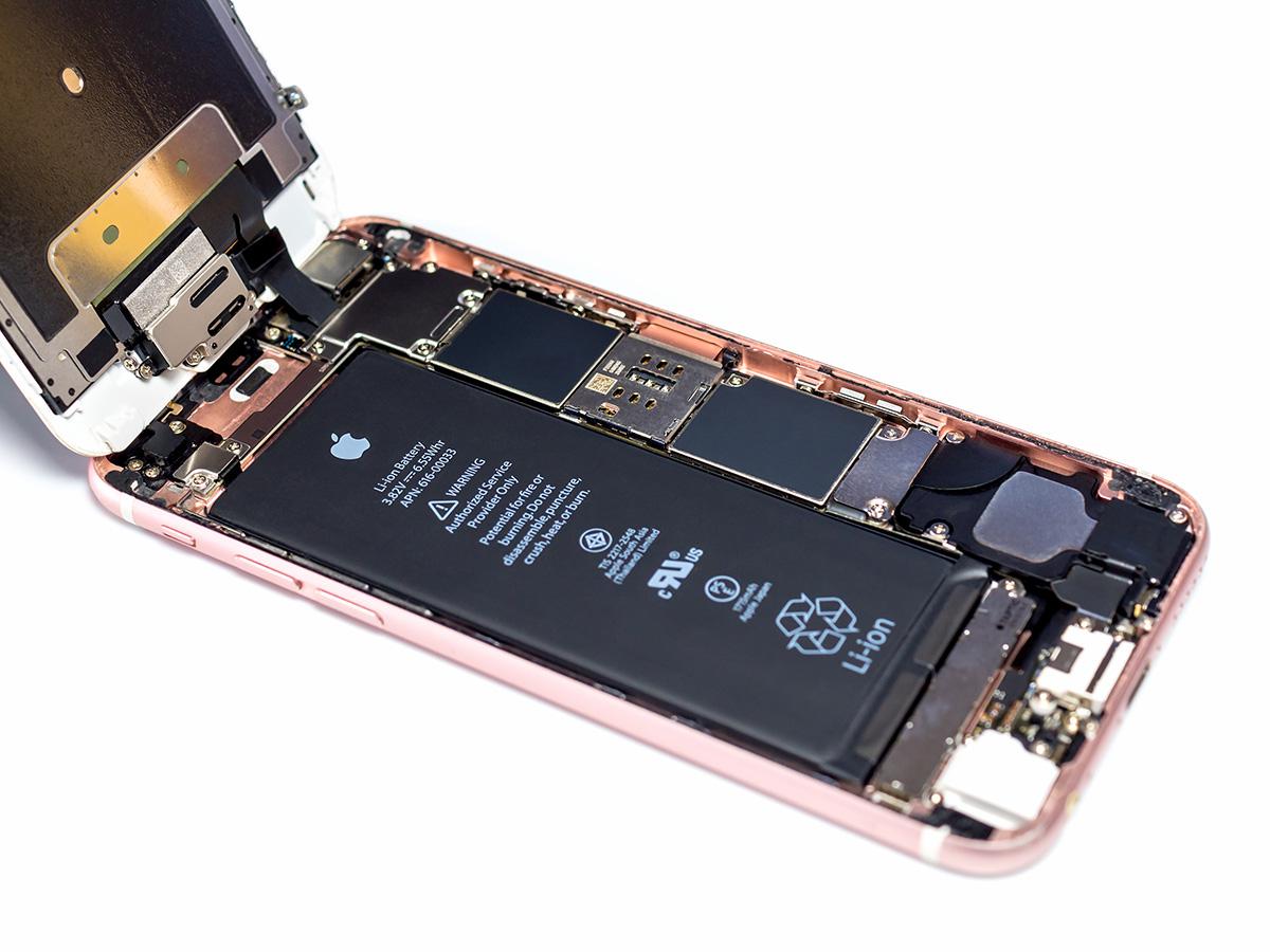 Residuos de oro y plata en un teléfono móvil
