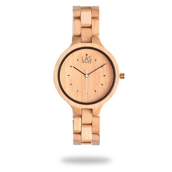 Reloj de madera Laswood