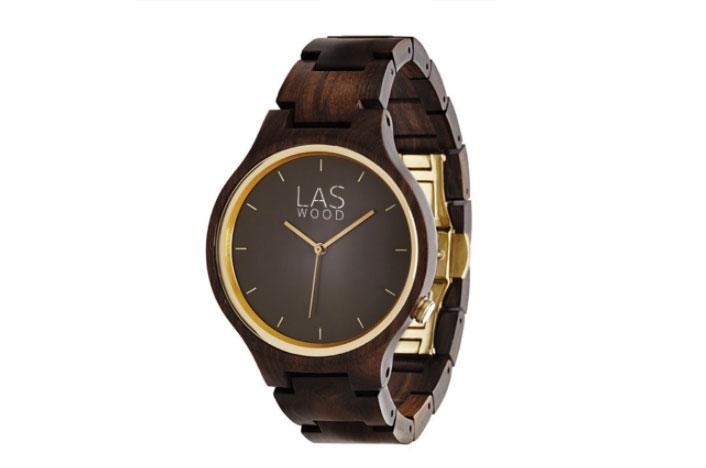 Reloj de madera de ébano para hombre