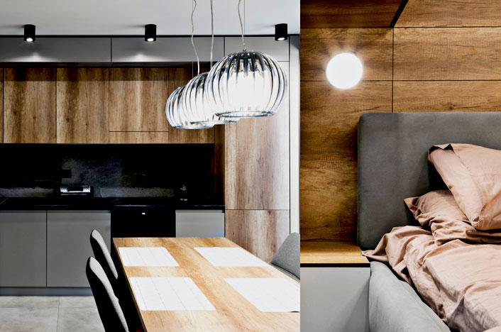 Iluminación en cocina y dormitorio