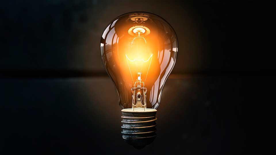Bombilla luz distribución energía eléctrica