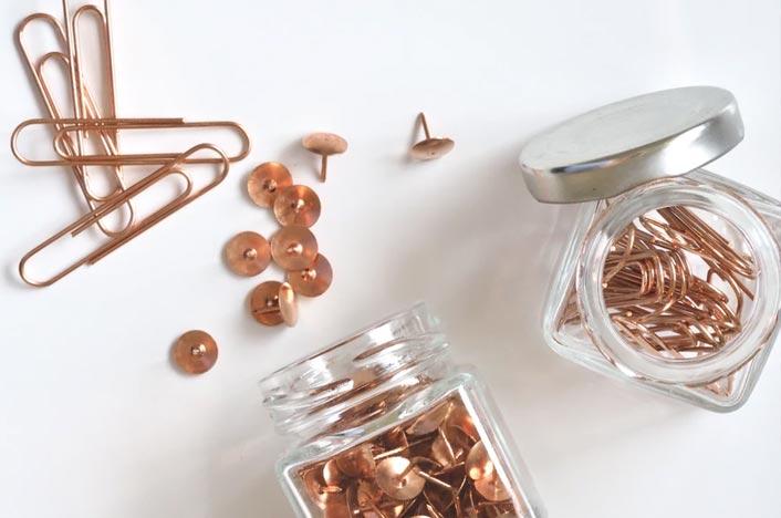 Chinchetas e imperdibles de cobre - Cómo se recicla este metal