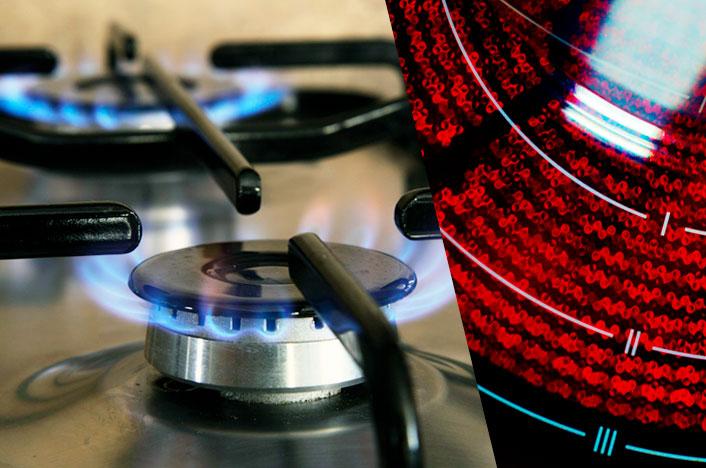 Cocina de gas y vitrocerámica