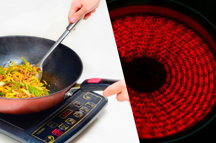Cocina de inducción y vitrocerámica