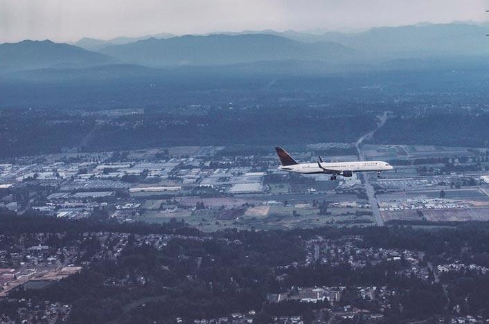 Ecología del paisaje vista desde un avión