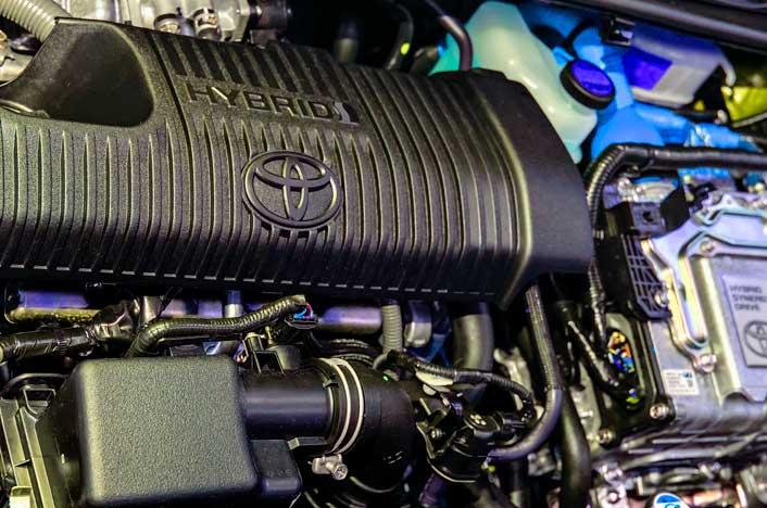 Motor de coche híbrido de Toyota