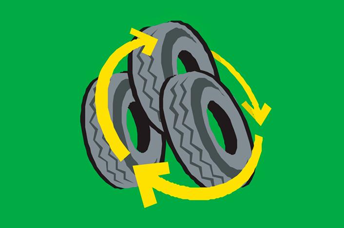 ideas con neumáticos reciclados