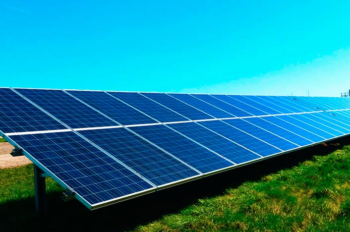panel solar para crear energía solar térmica