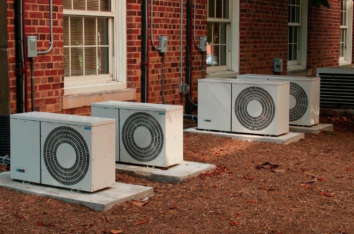máquinas de aire acondicionado exteriores