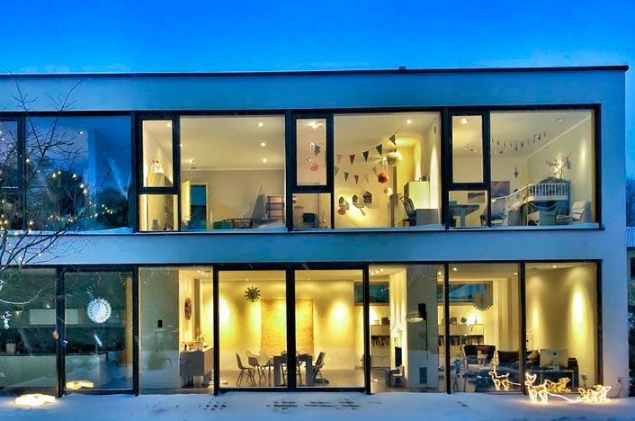 Casa eficiente y futurista
