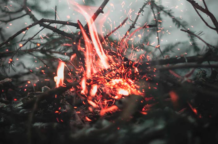 Fuego y problemas de los incendios forestales