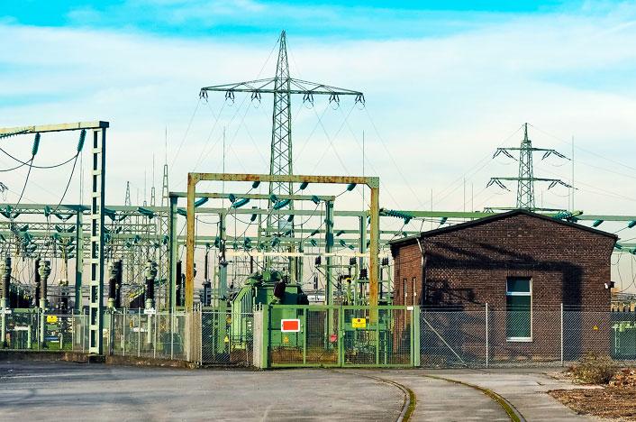 Ejemplo de subestación eléctrica