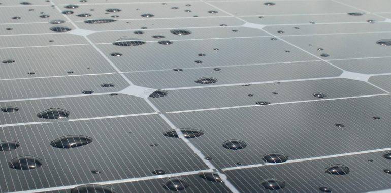 Placas solares solar-pluviale