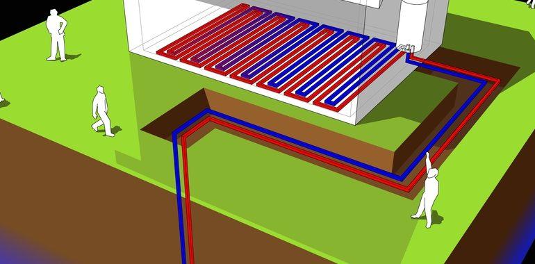 calefacción geotérmica