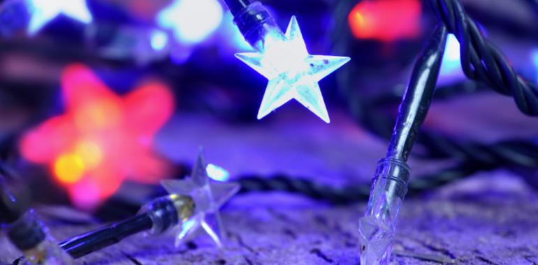 Iluminación led para una Navidad ecologica