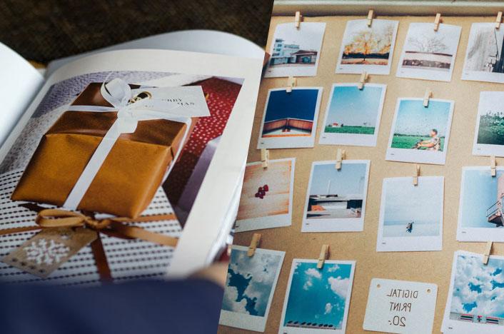 Catálogo y fotografías instantáneas - Materiales no reciclables