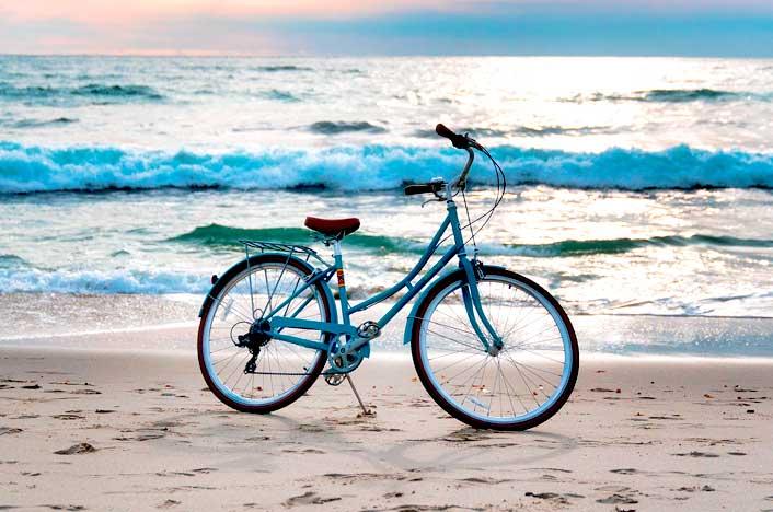 bicicleta en playa