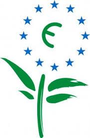 Símbolo de Ecoetiqueta europea reciclan el papel sin cloro y libre de emisiones
