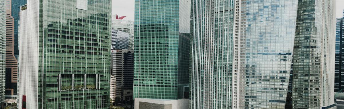 Edificios modernos en Canadá