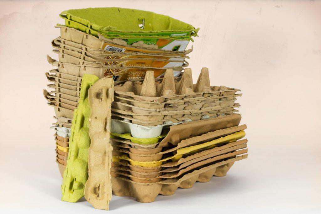 Cartones de huevos para reciclar