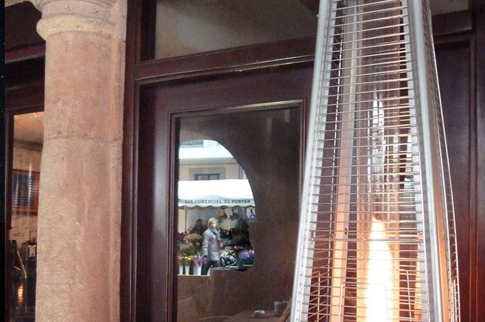 Estufa de gas en un restaurante