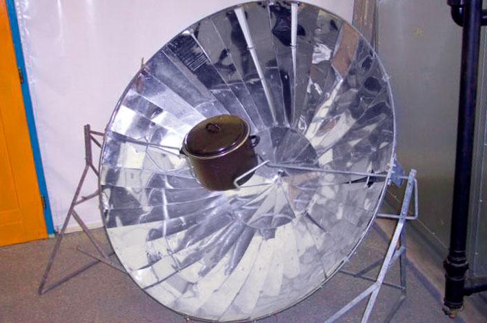 Funcionamiento del horno solar